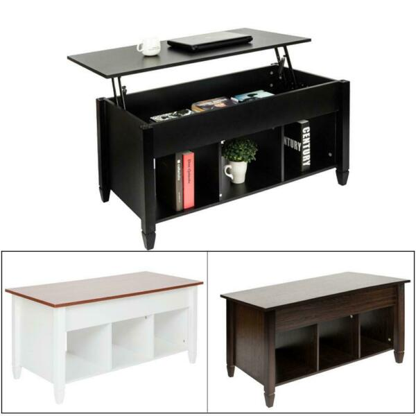 New Lift Top Coffee Table with Hidden Storage and Lower Shelf Living Room $119.49