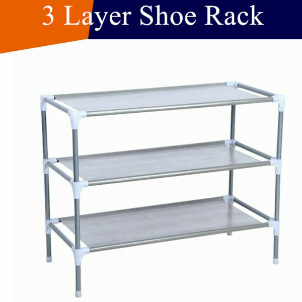 3 Tier Shoe Rack Organizer Shelf Entryway Hallway Home