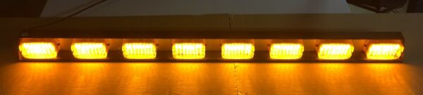 "Federal Signal 51"" Light Bar 8 LED AMBER Lamps SMLED8 DOT 320792 TESTED Works"