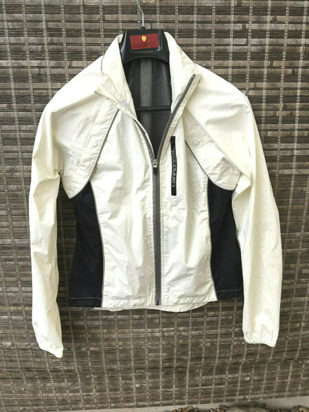 Women's Cannondale White Size XS Bicycle Running Track Zip Up Jacket Windbreaker $20.00