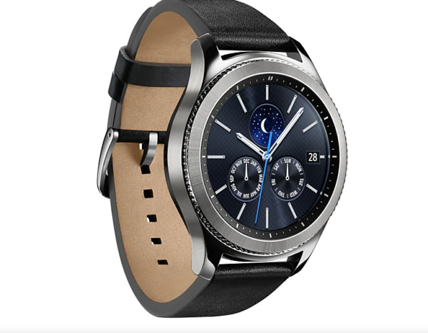 Samsung Gear S3 Classic Smartwatch SM-R770 with Black Silicone Band - Silver .