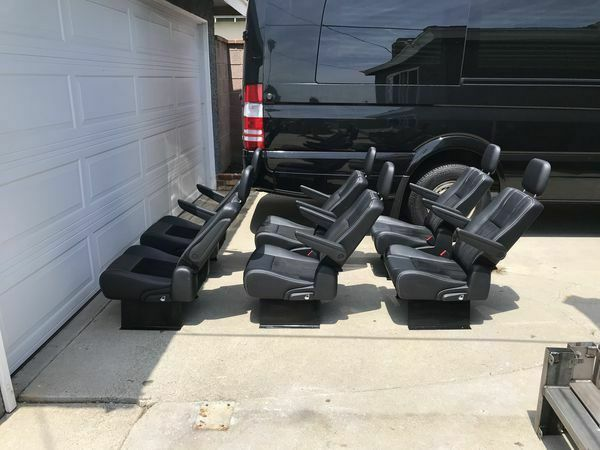 SET OF 6 Reclining foldable Bucket Seats for Sprinter van conversion bus or RV