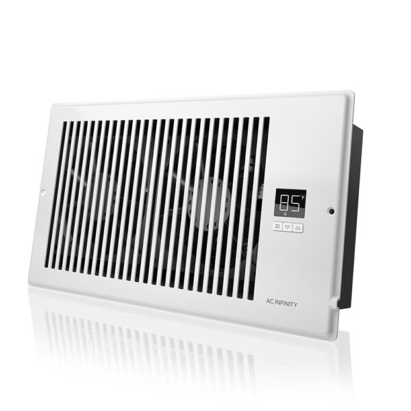 """AIRTAP T6 Quiet Register Booster Fan Heating  Cooling 6 x 12"""" Registers White"""