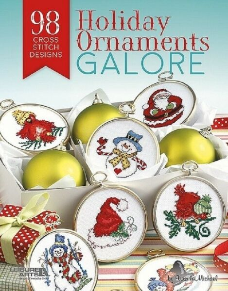 Cross Stitch Pattern Book 98 HOLIDAY ORNAMENTS GALORE ~ Christmas Decor