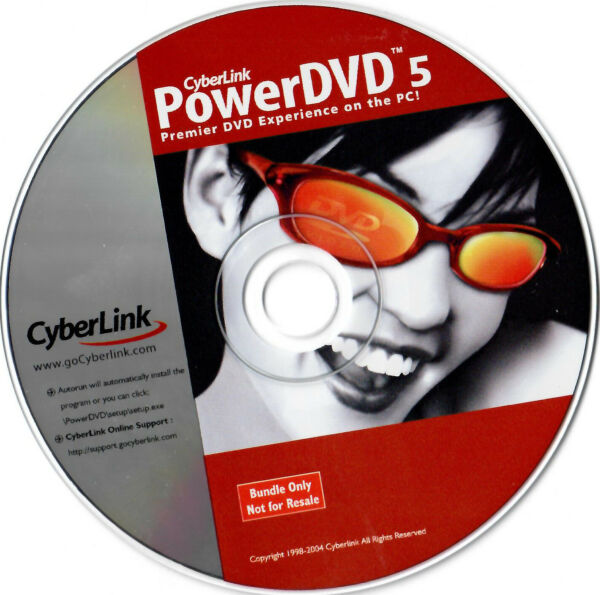 CyberLink PowerDVD 5 for Windows New Comes With Product Key CD $6.99