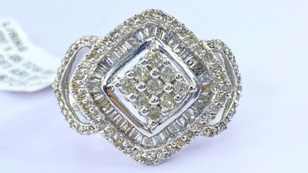 1.00 ct NATURAL DIAMOND  Right Hand ring SOLID white GOLD
