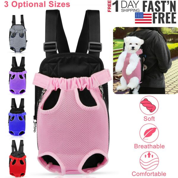 Mesh Pet Puppy Dog Cat Carrier Backpack Head Legs Out Front Net Bag Tote Sling $10.41