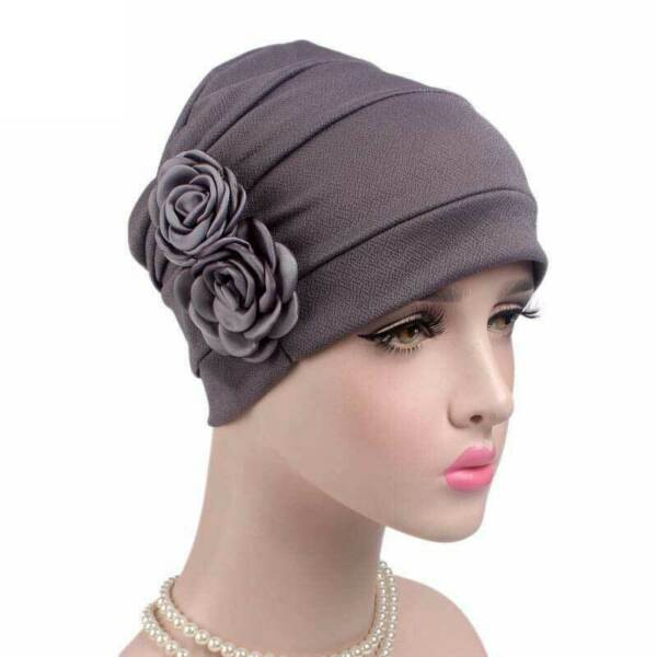 Women's Hat Soft Night Sleep Hat Turban Headwear Beanie Hat for Cancer Patient