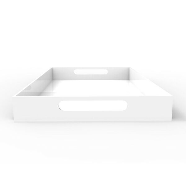 Vale Arbor Large ServingCoffee Table Tray  - White