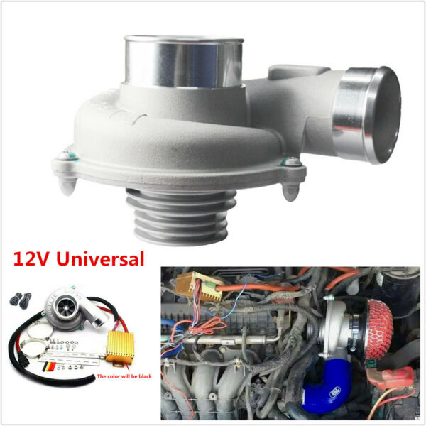Universal Car SUV Electric Turbo Supercharger Air Filter Intake TurboCharger Kit
