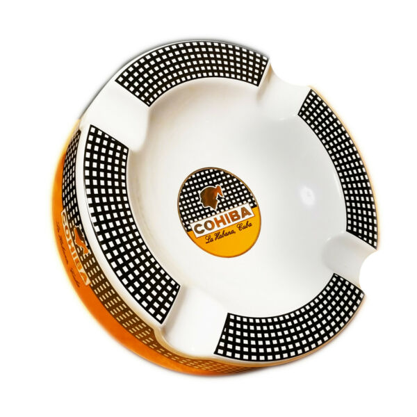 Cohiba Cigars Large Ceramic Ashtray for Patio  Outdoor Use 4 Cigar rests