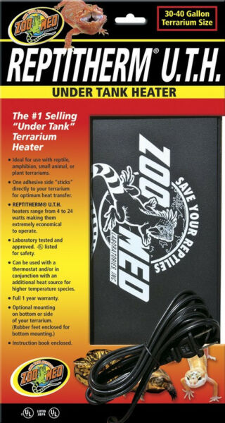 Zoo Med ReptiTherm Under Tank Heater for 30 40 Gallon Terrariums C $32.99