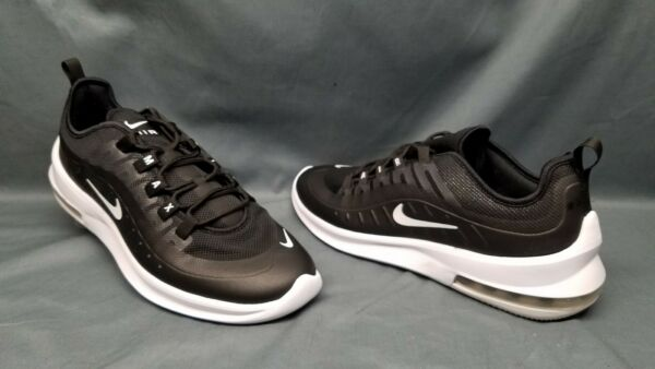 Nike Men's Air Max Axis Running Sneakers Mesh Black White Size 12 DISPLAY MODEL!