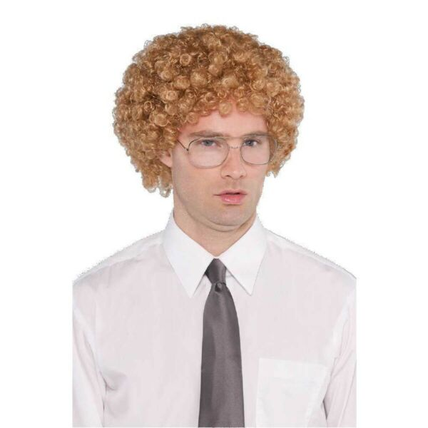 Geek Wig And Glasses Kit Napoleon Dynamite Costume Movie Fro Curly Halloween