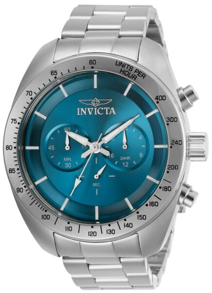 Invicta 30034 Speedway Men's 48mm Chronograph Stainless Steel Blue Dial Watch