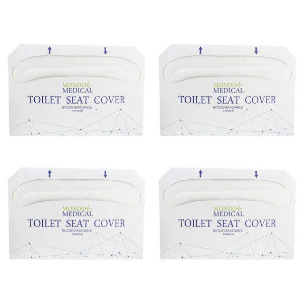 MonMed Toilet Seat Covers Disposable Seat Covers 1 2 Fold 14x16 Inch 1000pc $16.99