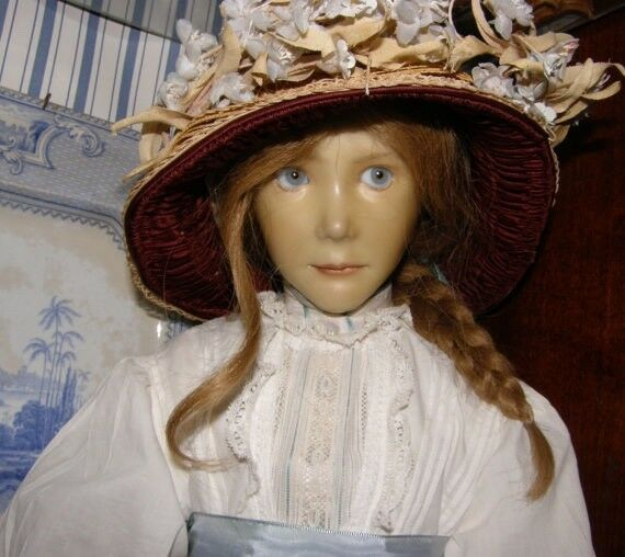 Superb Antique Porcelain Wax Doll Brigitte Deval Artist One of a kind 1983