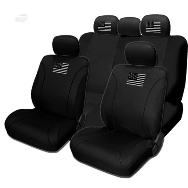 For FORD New American Flag Design Front Rear Car Truck SUV Seat Covers Set $38.97