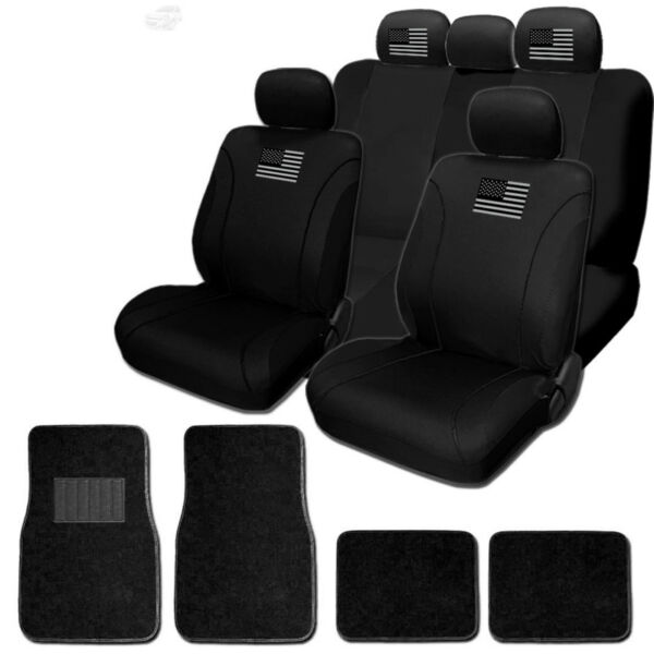 For JEEP New American Flag Front Rear Car Truck SUV Seat Covers Mats Set $47.99