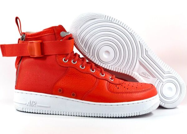 Nike SF AF1 Mid Special Field Air Force 1 Orange White 917753-800 Men's 9.5