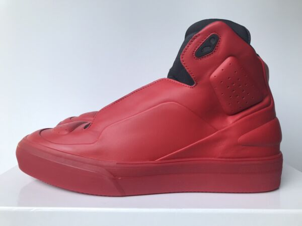MAISON MARGIELA SS18 Frequency Future High Top Shoes Sneakers Red NIB!