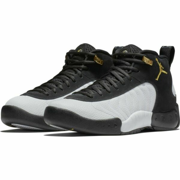 Jordan Jumpman Pro BlackMetallic Gold-White 906876-032 Mens Basketball Shoes