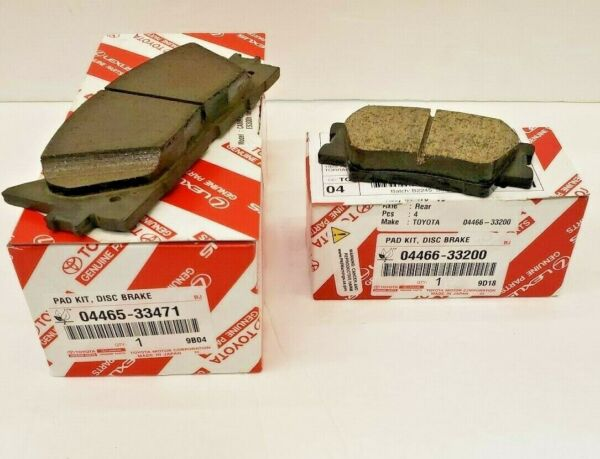 LEXUS OEM FACTORY FRONT AND REAR BRAKE PAD SETS 2013-2018 ES350 ES300H