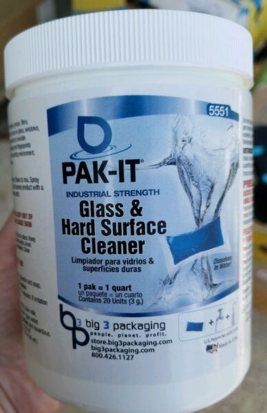 Pak-It Glass & Hard-Surface Cleaner Pleasant Scent 20 Packs