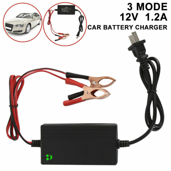 Car Battery Maintainer Charger Tender 12V Portable Auto Trickle Boat Motorcycle