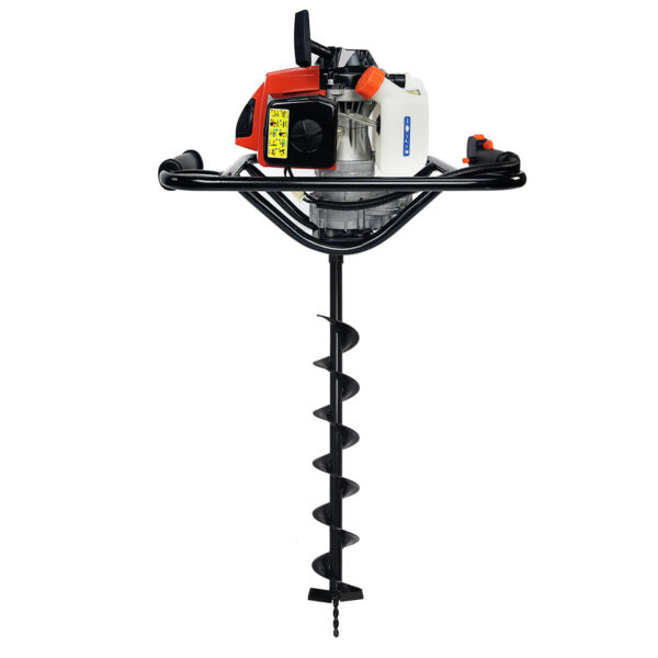 V-Type 63CC 2 Stroke Gas Post Hole Digger Auger with 4
