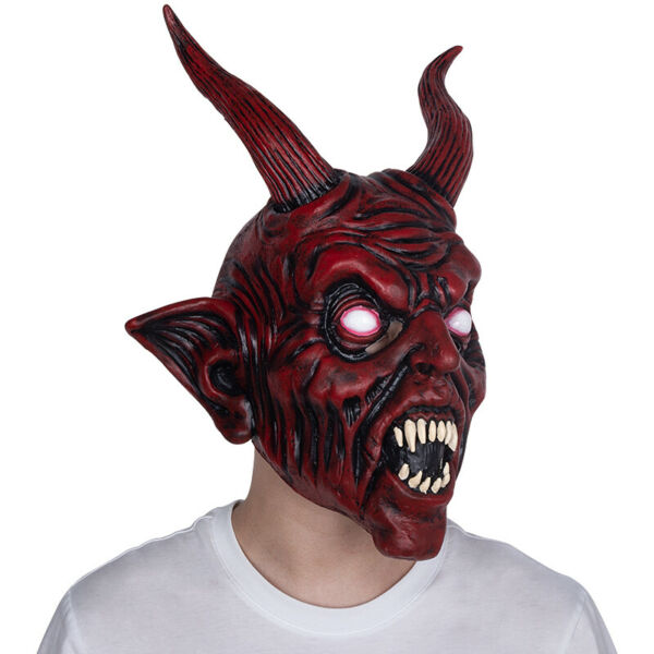 Scary Halloween Devil Mask Demon Prop Satan Diablo Halloween Party Mask