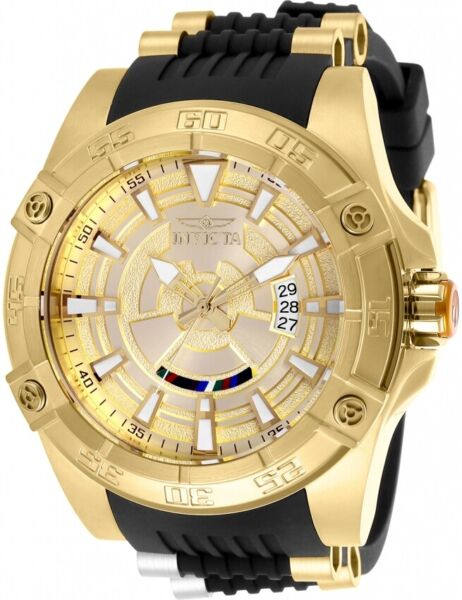 Invicta 26521 Star Wars Men's 52mm Automatic Gold Tone Gold Dial Watch