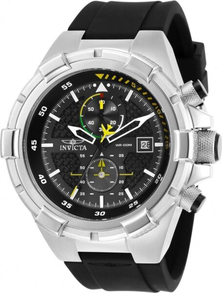 Invicta 28102 Aviator Men's Chronograph 50.5mm Stainless Steel Black Dial Watch