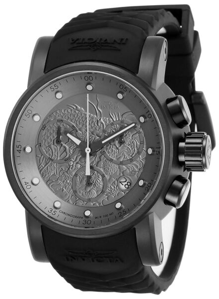 Invicta 28193 S1 Rally Men's 48mm Chronograph Black-Tone Silver Dial Watch