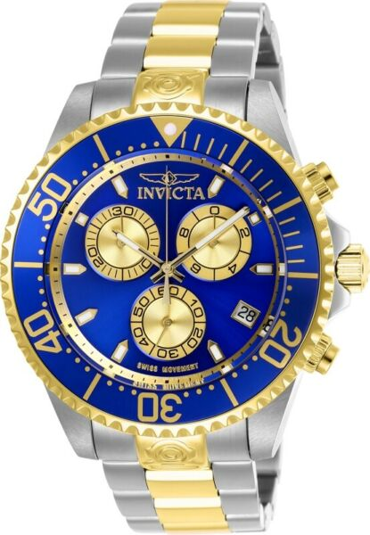 Invicta 26851 Pro Diver Men's 47mm Chronograph Two-Tone Steel Blue Dial Watch $59.99