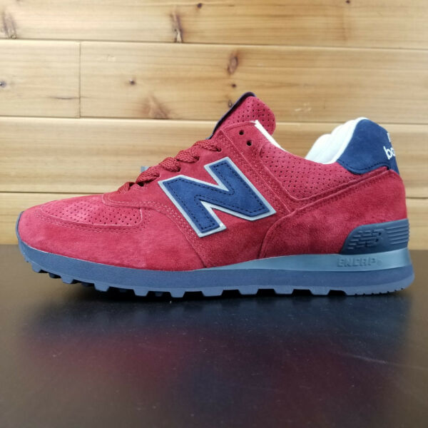 New Balance 574 Classics Made In USA Connoisseur Red Navy US574XAD Men's Shoes