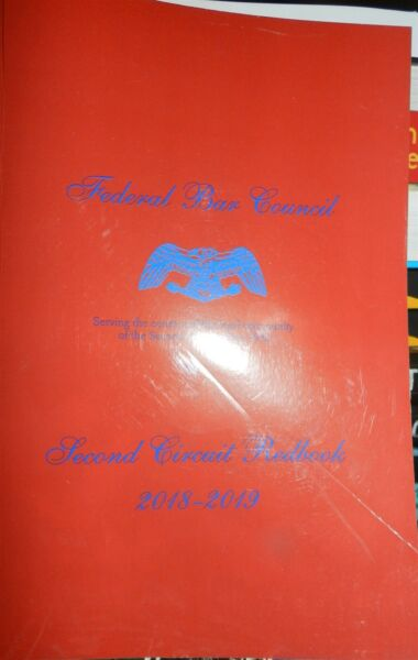 Federal Bar Council Second Circuit Redbook 2018 2019 Paperback Book