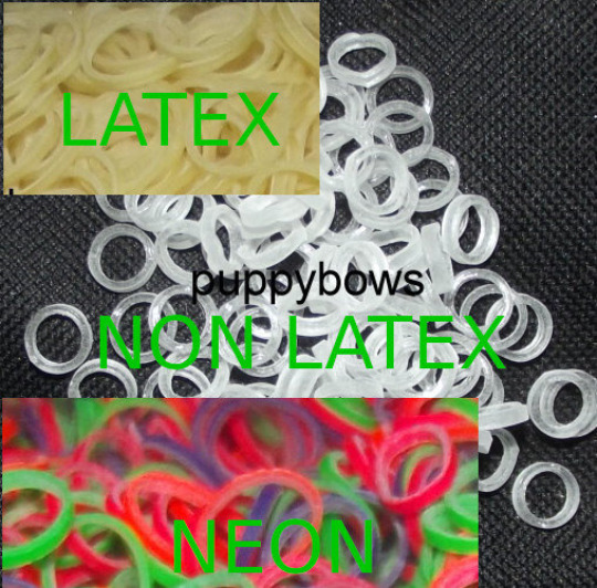 Puppy Bows 3 8quot; med heavy neon latex non dog grooming rubber gum bands USA $6.99