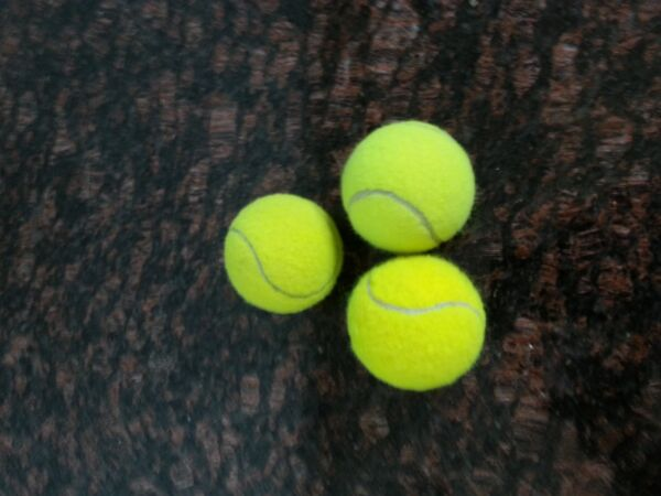 20 Used Yellow Tennis Balls(assorted brands) Good for practice pooch furniture