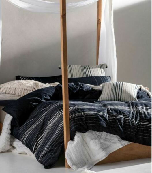 Linen House Nighttide Indigo Cotton Quilt Cover Set Queen King Super King Euro AU $179.00