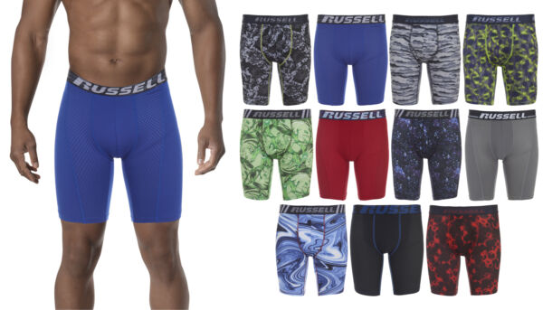 Russell Athletic Poly Performance Men#x27;s Assorted Colors Boxer Briefs Multi Pack