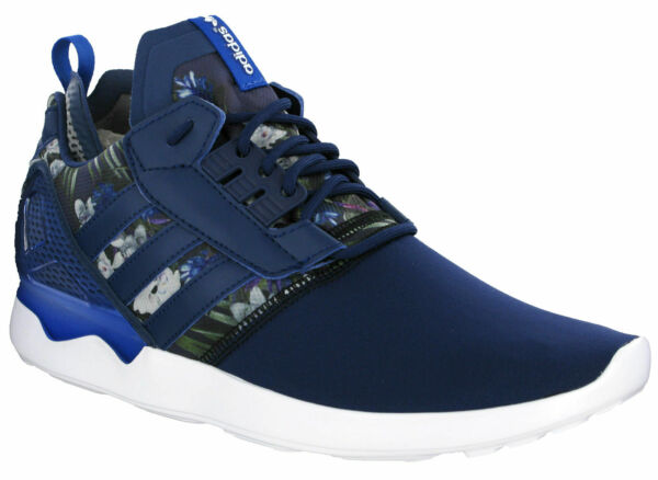 Adidas Mens ZX 8000 Boost Running Navy Flower Cushioned Lace Up Trainers B24959