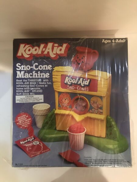 Vintage Lanard 1984 Kool-Aid Snow Sno-Cone Machine w. Box General Foods Corp.