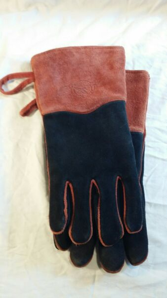 Eddie Bauer Gloves Outdoor Fireplace Leather Fleece Durable