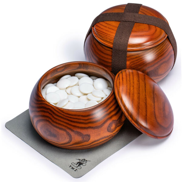 Melamine Single Go Game Convex Stones and Wild Jujube Bowls - 21.5-22mm (Size 3)