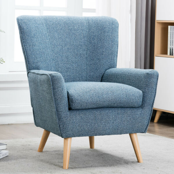 Push Back Recliner Chair Sofa Lounge Living Room Furniture Fabric Seat Armchair