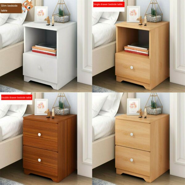 Nightstand Bedside End Table Bedroom Side Stand Accent Storage Desk w/ Drawers