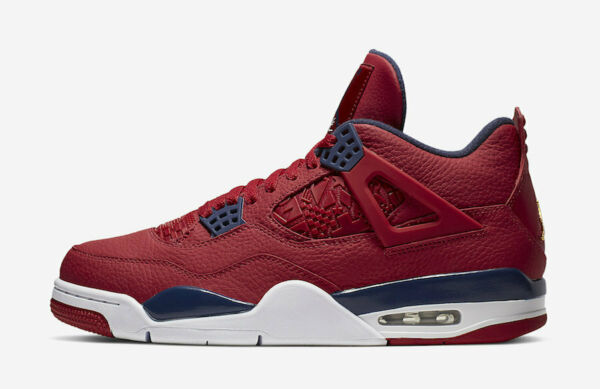 2019 Nike Air Jordan 4 Retro SE SZ 7.5 FIBA Gym Fire Red Obsidian OG CI1184-617