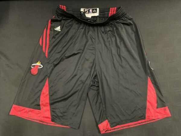 MIAMI HEAT #20 GREG ODEN ADIDAS USED BLACK PRACTICE SHORTS SIZE 3XL 2 LENGTH $99.99