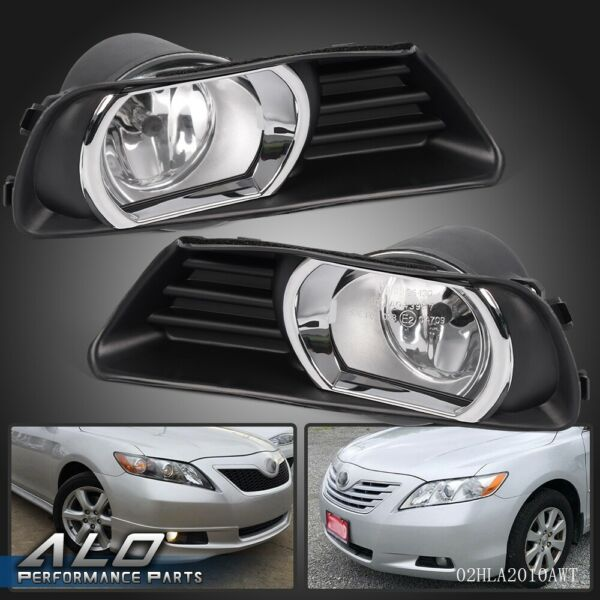 For 07-09 Toyota Camry Halo Projector Driving Bumper Pair Fog Lights+Switch Set